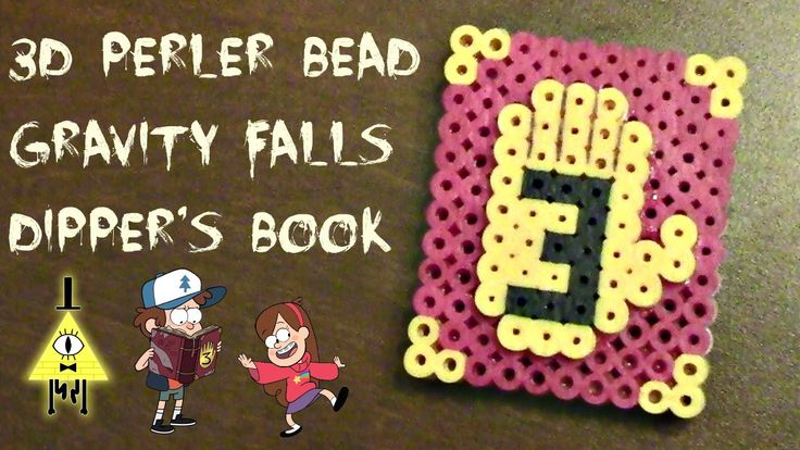 3D Gravity Falls Dipper's Book 3 Perler Bead Craft