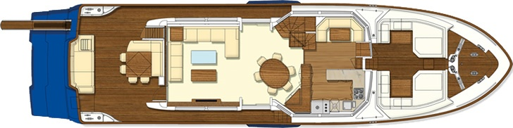 Main deck - Mochi Craft - Long Range 25 #yacht #luxury #ferretti #mochi