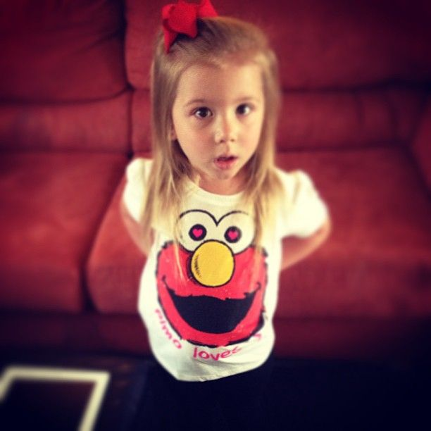 Aubree Houska Gives Sass Wearing an Elmo T-Shirt