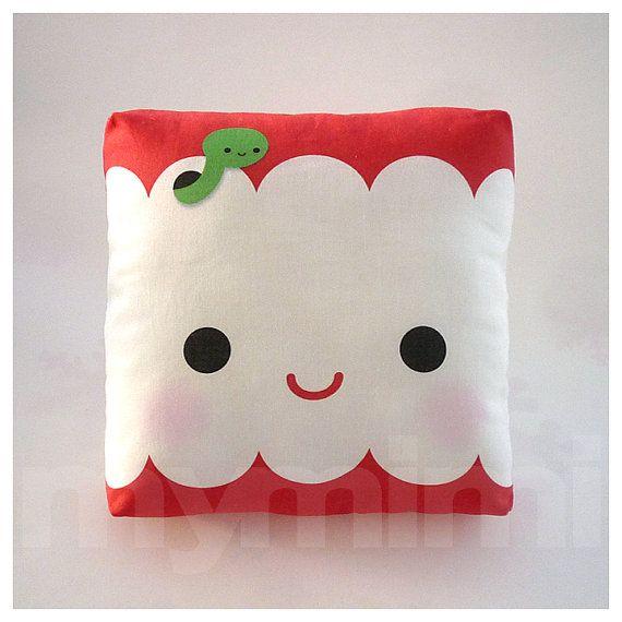 Decorative Pillow, Mini Pillow, Kawaii Print, Toy Pillow - Yummy Apple