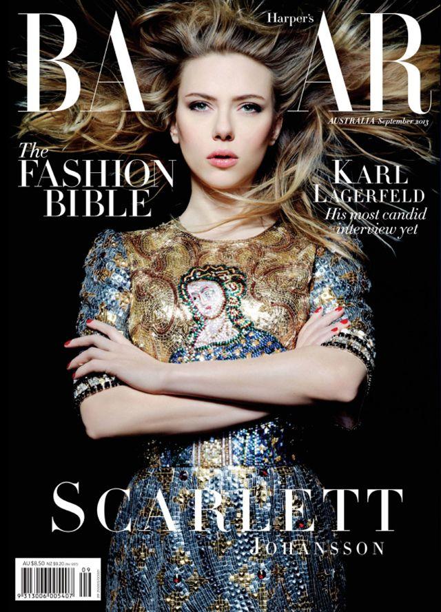 Scarlett Johansson covers Harper's Bazaar Australia