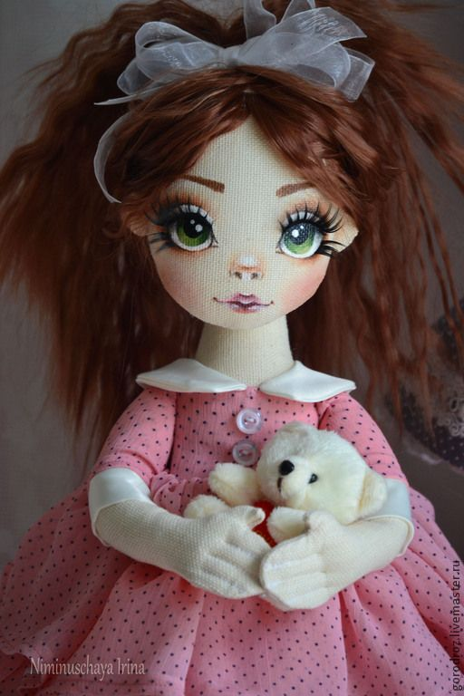 София Авторская кукла ручной работы! - кремовый,авторская кукла,Рыжая