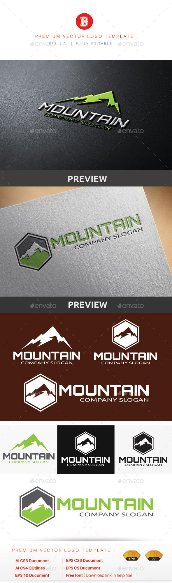 Mountain V.2 — Vector EPS #outdoor #star • Available here → https://graphicriver.net/item/mountain-v2/8794952?ref=pxcr