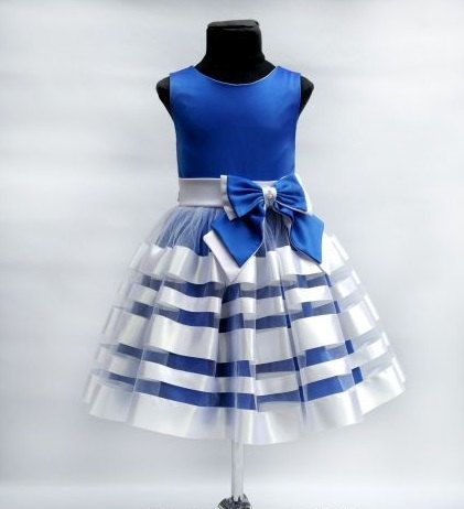 Bruidsmeisjes jurk Navy Blue Chiffon door FlowergirlDressStore