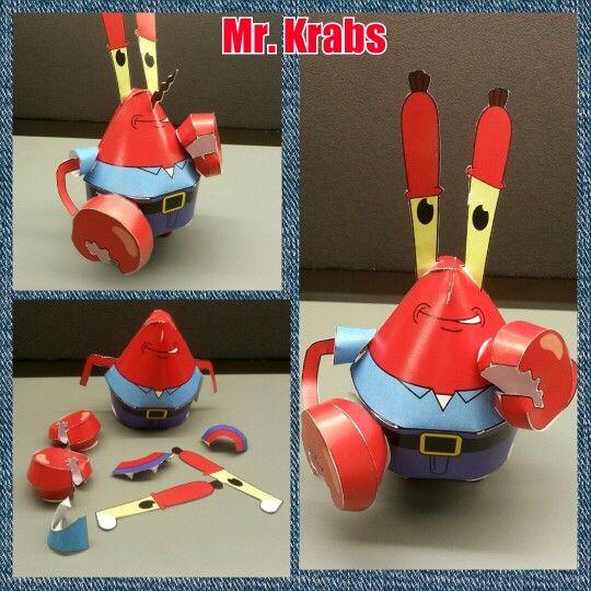 Mr krabs paper craft