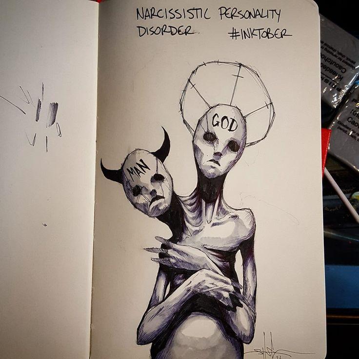 Trastorno de personalidad narcisista   La preocupación por la opinión del resto a menudo lleva a ensalzar la propia figura de manera exagerada, lo que puede comportar en el trastorno narcisista, por el que también se pierde toda empatía hacia los demás.  Así es un narcisista: un humano que se cree dios.