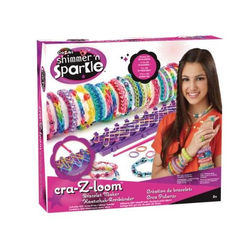 Après avoir fait fureur aux Etats-Unis, la fabrique à bijoux Cra-z-loom débarque chez Oxybul. Le métier à tisser Cra-z-loom permet de réaliser des bijoux tendance à partir d'élastiques colorés. Bracelets, bagues et autres accessoires, ce métier à tisser offre de nombreuses possibilités de création. Très complet, le livret inclus dans le kit Cra-z-loom détaille pas à pas les modèles. L'enfant laisse alors libre cours à son imagination et à sa créativité : il crée des bracelets tendance ou aux…