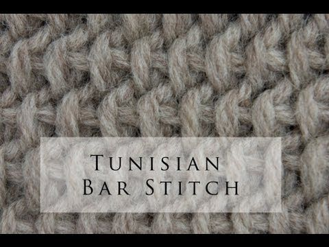 Tunisian Crochet Bar Stitch