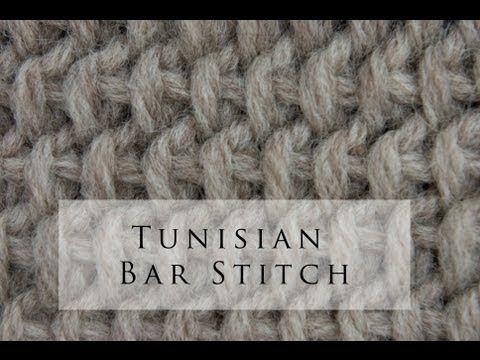 My Tunisian Crochet: Tunisian Bar Stitch (Tbs)