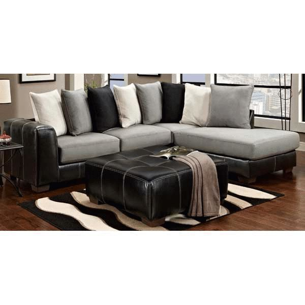 Too modern i would have to change the pillows new place for Sectional sofa american furniture warehouse