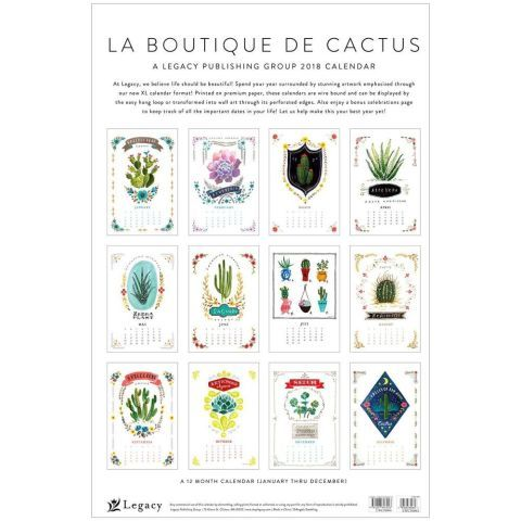 http://www.calendars.com/Nature/Cactus-Wall-Calendar-/prod201800001780/?categoryId=cat00741&seoCatId=cat00741 La Boutique De Cactus Large Wall Calendar