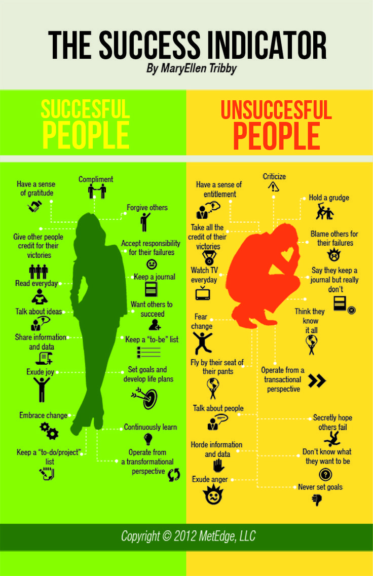 The success indicator #infographic (pinned by @Ricardo Llera)