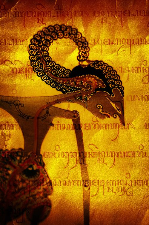 Wayang (shadow puppet) from Java, Indonesia.  (by Lani Barbitta)