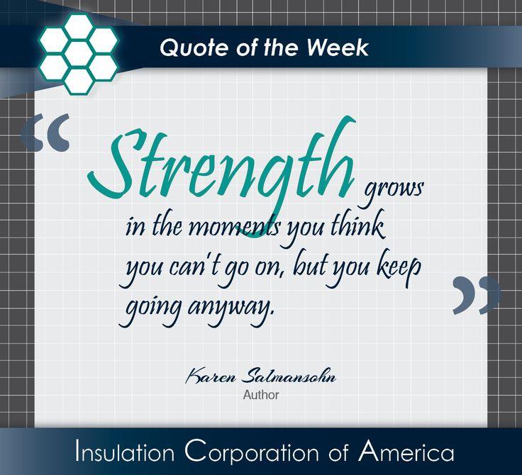 "Persistence Motivational Quotes: Karen Salmansohn ""#Strength Grows In"