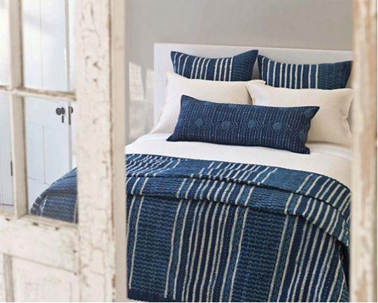 Pine Cone Hill Resist Ink Dot Decorative Pillow - Cottage & Bungalow