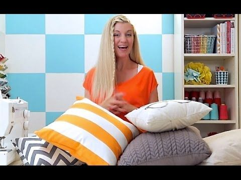 How to sew a Pillow 2 ways: Basic Pillow and Pillow Sham