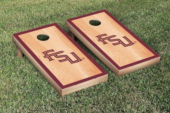 SALE-4 Designs-Florida State FSU Seminoles Cornhole by SkipsGarage