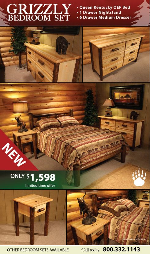 Grizzly Log Bedroom Furniture