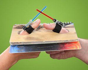 Wow: The Star Wars Lightsaber Thumb Wrestling Kit   Geekologie