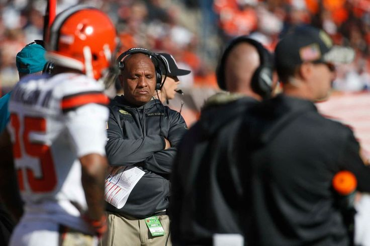 Cowboys vs. Browns:  35-10, Cowboys  -  November 6, 2016  -   Cleveland Browns head coach Hue Jackson reacts as he works the sideline in the first half of an NFL football game against the Dallas Cowboys,  Sunday, Nov. 6, 2016, in Cleveland. (Credit: AP / Ron Schwane)