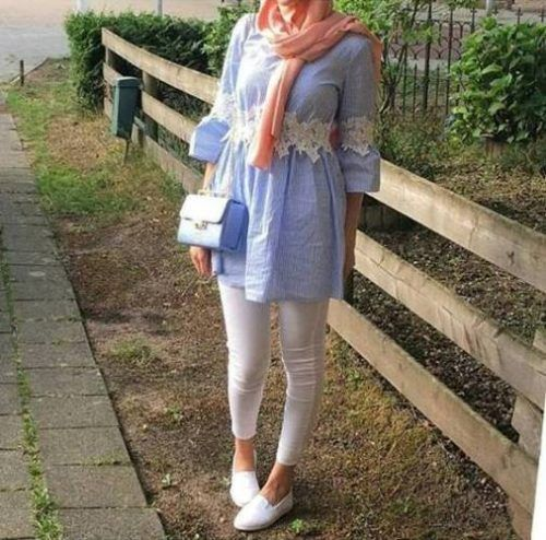 Hijab spring street fashion – Just Trendy Girls