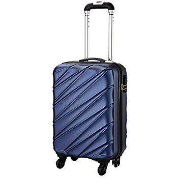 Bagage Cabin Max Tuscany 2.0 Ultra Léger 2.4kg ABS Coque Solide Voyage Transport Bagage Cabine Bagage à Main Valise à 4 Roulettes, Autorisée par Ryanair, Easyjet, et Bien d'Autres (Bleu): Amazon.fr: Bagages