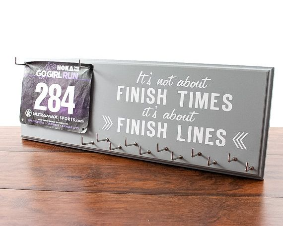 Race Bib Holder - It's Not About Finish Times Its About Finish Lines - Race Medal Holder