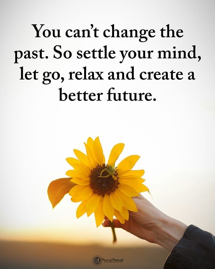 You Can T Change The Past So Settle Your Mind Let Go Relax And Create A Better Future Powerofpositivity Past Quotes Relax Quotes Future Quotes