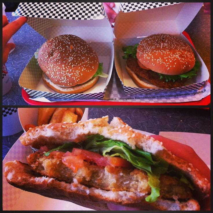 Vegan Burger @ AmericaGraffiti - Padova, Italy  www.sickgreenlovesvegan.blogspot.it