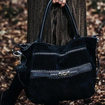 Noosa Damen Tasche ohne Chunk Raw Romance Shopper schwarz