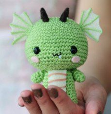 Very cute little dragon. Its a simple one to make too :P