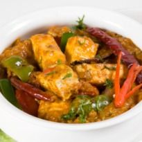 Paneer Achaari: Bits of #paneer tossed in a range of achaari flavors, chillies, whipped curd and spices.