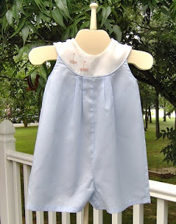 summer sunsuit - round yoke keeps straps from slipping off