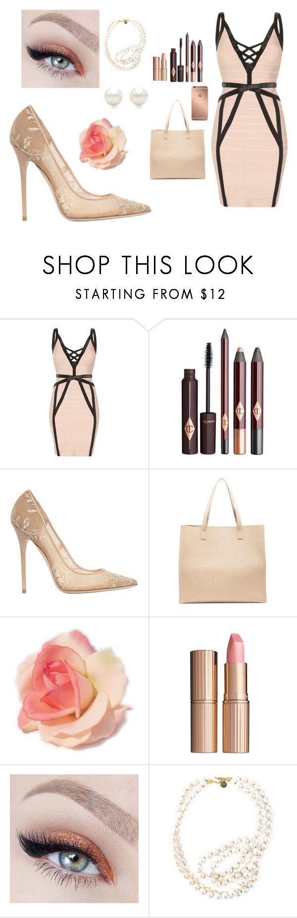 """""""Pearl"""" by natalia-farias ❤ liked on Polyvore featuring Jimmy Choo, Sole Society, Mura, Charlotte Tilbury, STELLA McCARTNEY and Tiffany & Co."""