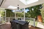 Love the covered deck...with skylights!