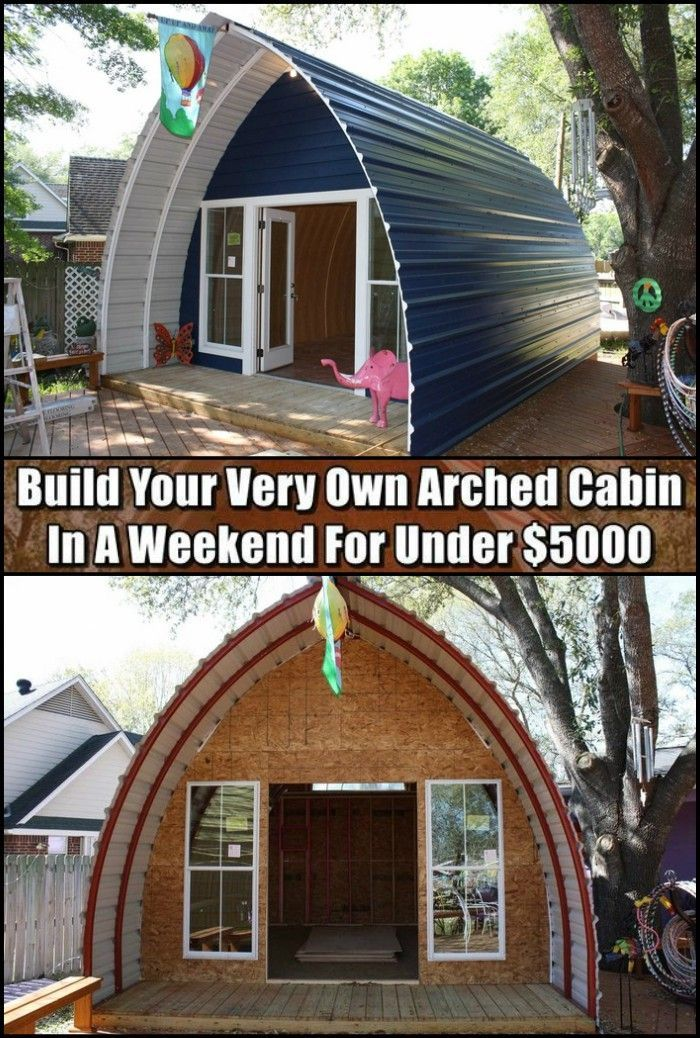 High Quality Attractive Easy To Build Own One Of These Incredible Arched Houses For Under 1000 Arched Cabin Pallet House Arch House