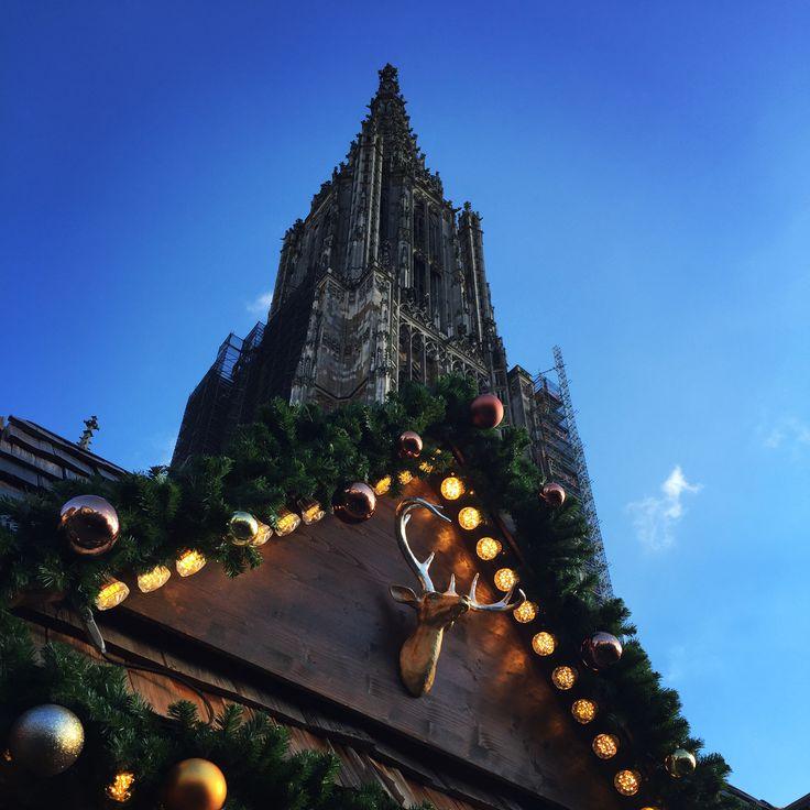 Weihnachtsmarkt Ulm bei Sonnenschein #ulm #ulmermünster #weihnachtsmarkt #xmas #chirstmasmarket #germany #minster #bawü