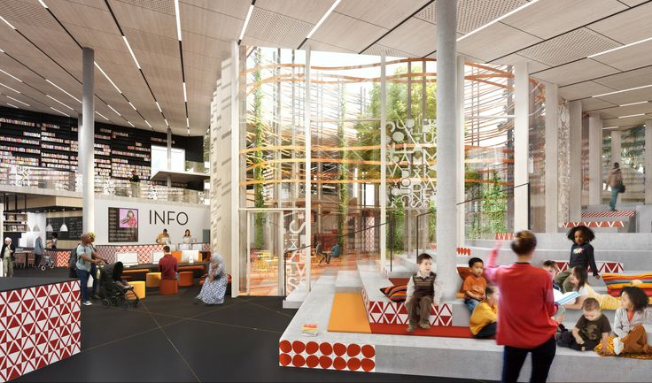 Sweco's Kulturkorgen Offers Gothenburg a Basket of Culture,Interior functions are organised around a central atrium. Image Courtesy of Sweco