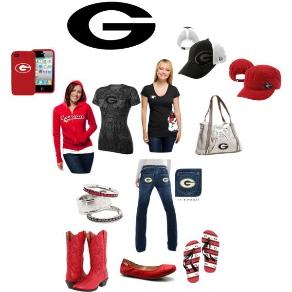 Georgia Bulldogs, Game Day!! I love all of this except for the boots, I'm not a fan of boots.