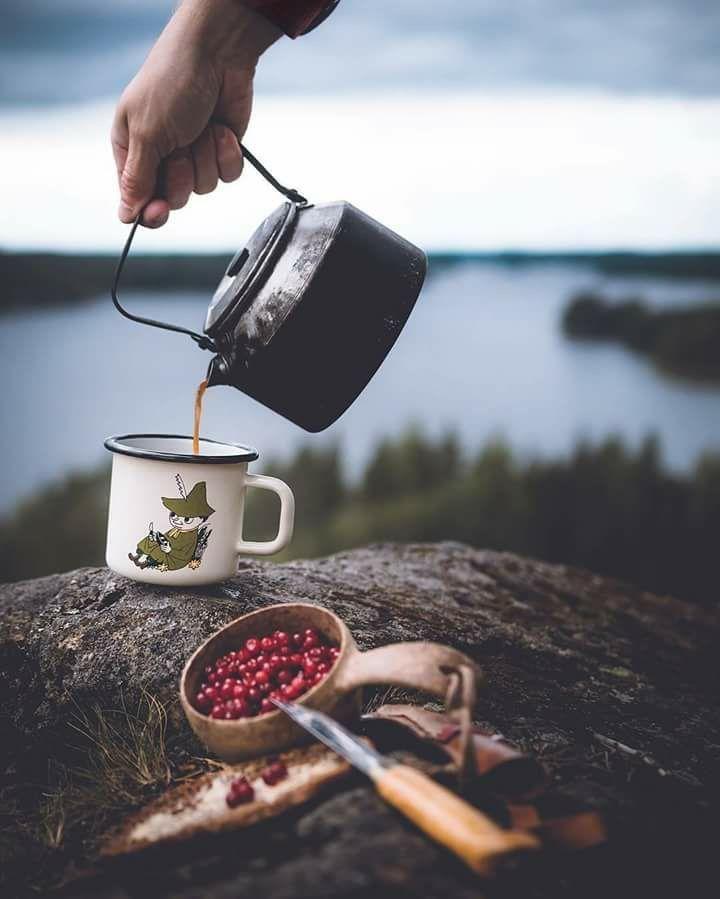 Émail tasse Camping