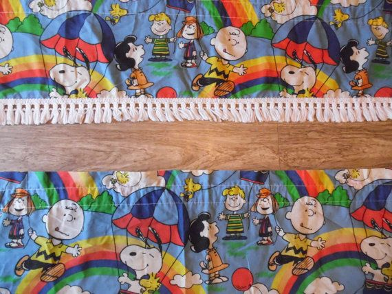Curtains Snoopy Charlie Brown Children's by OldSteamerTrunkJunk