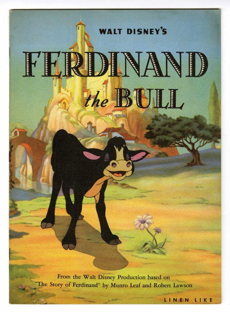 Walt Disney's Ferdinand the Bull book (Whitman, 1936)