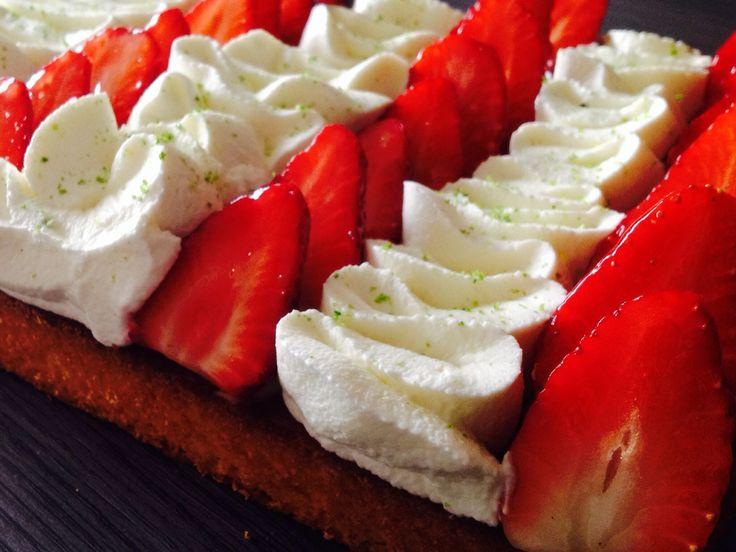 Sablé breton, fraises & citron vert   Foodie: Your Recipes. Your way.