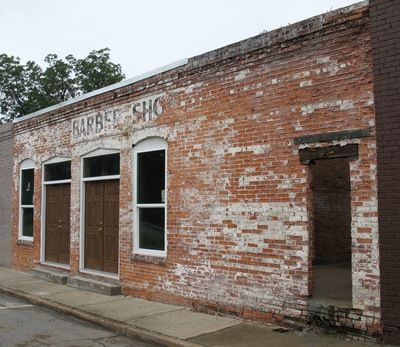 UNF Library | Photographic Images of Historic Architecture in the United States by George Lansing Taylor Jr.: Old Barber Shop, Bainbridge GA