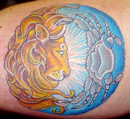 leo cancer tattoo tat for hubby i tattoo pinterest colors thoughts and image search. Black Bedroom Furniture Sets. Home Design Ideas
