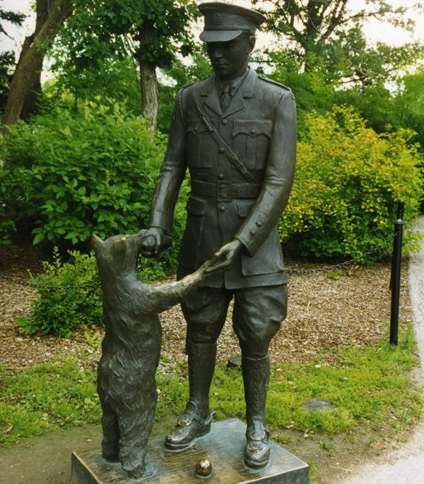 The original Winnie the Pooh. Winnipeg Zoo. Maybe this is why I love Pooh so much?! :)