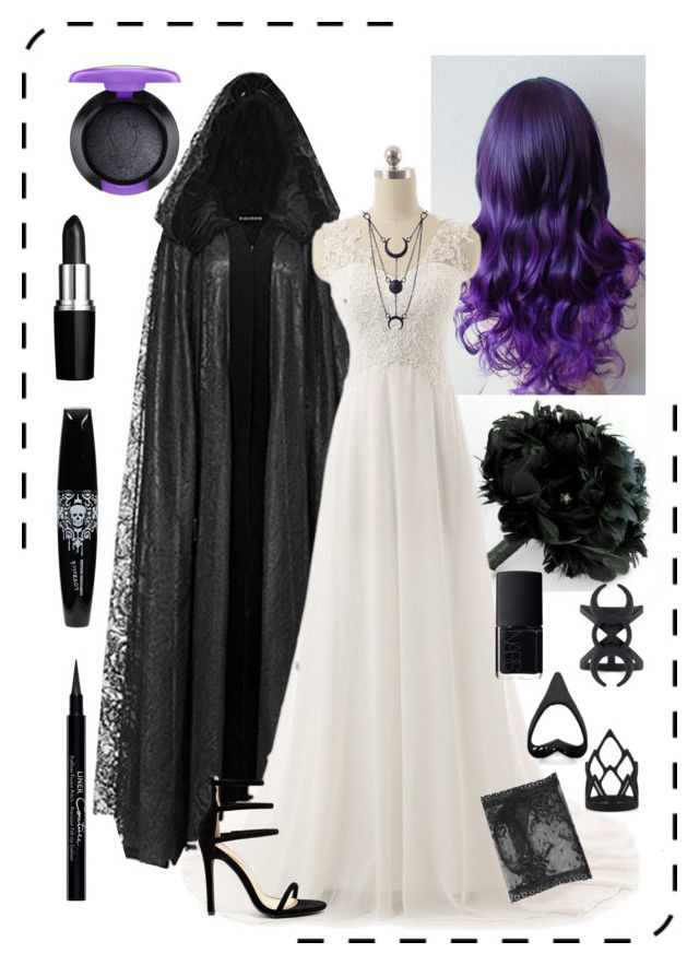 """""""Bride"""" by beataludmova ❤ liked on Polyvore featuring Liliana, Givenchy, NARS Cosmetics, MAC Cosmetics and Gucci"""