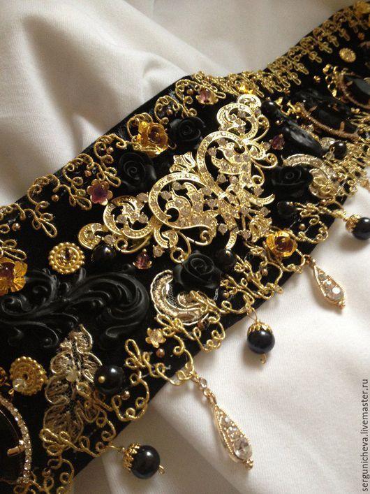 """Пояса, ремни ручной работы. Ярмарка Мастеров - ручная работа. Купить Пояс""""Anne Boleyn""""в стиле DG. Handmade. Итальянский стиль"""