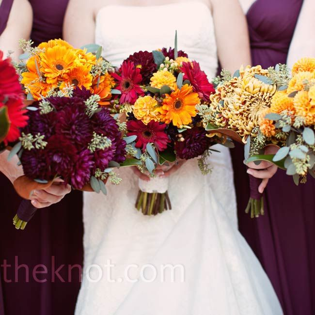 6 Bold and Beautiful Color Themes for your fall wedding = wedding color trends for fall 2014
