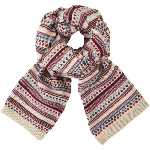 John Lewis Textured Pattern Scarf ($39) ❤ liked on Polyvore featuring accessories, scarves, patterned scarves, faux shawl, cable knit scarves, john lewis and faux-fur scarves